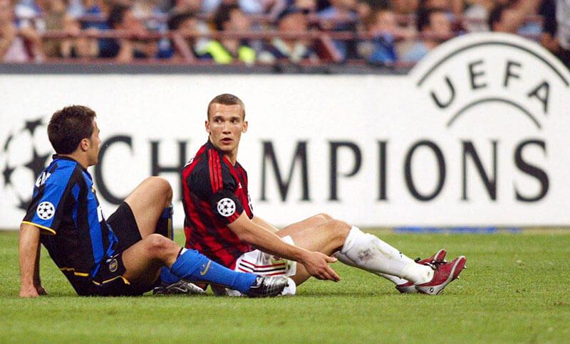 Milan và Inter Milan ở trận bán kết UEFA Champions League 2002-03,